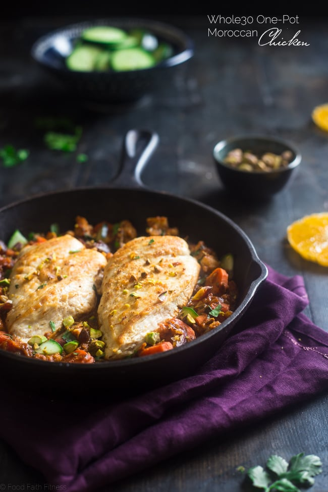 Moroccan Chicken Skillet Photo credit: foodfaithfitness.com