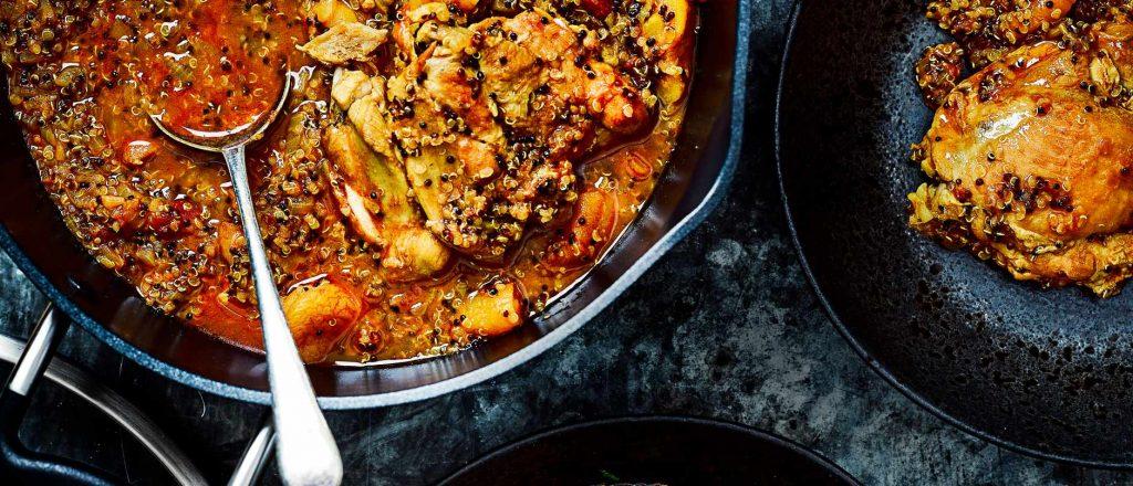 Chicken recipes - One-pot chicken and quinoa tagine Photo credit: Olive Magazine