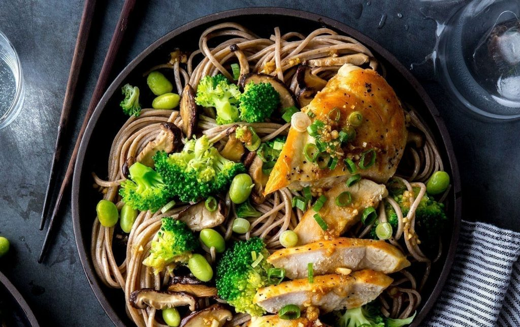 chicken recipes - Chicken and Soba Noodle Salad With Ginger Dressing Photo credit: MyFitnessPal