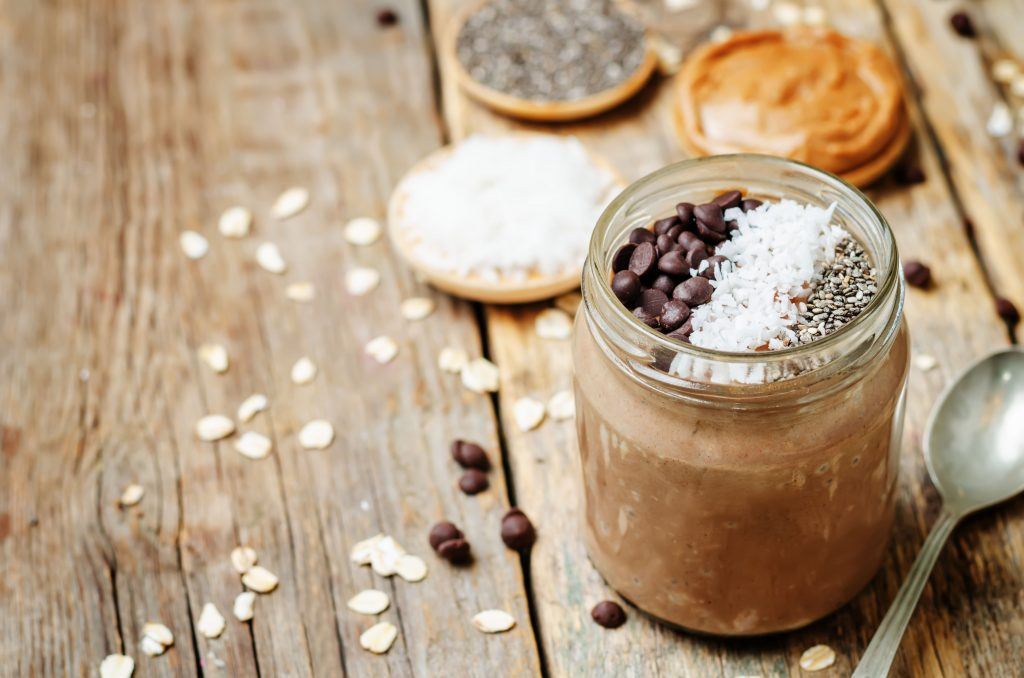 Overnight oats is a great start to the day and a way to boost your metabolism