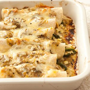 Easy Chicken Enchiladas Photo credit: Joe Lingeman
