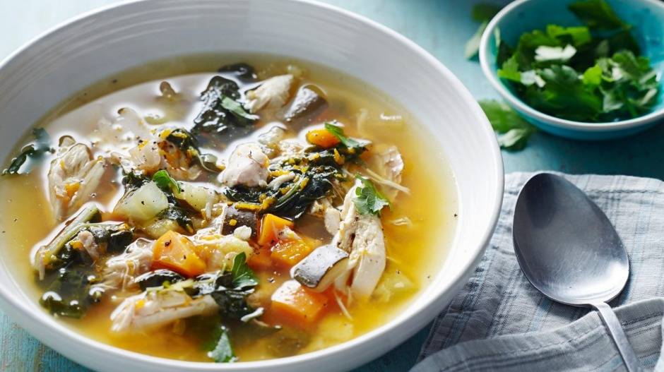 Pete Evans' paleo chicken soup Photo: Pete Evans