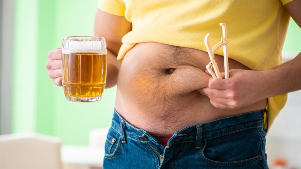 Beer Belly - middle aged spread in men